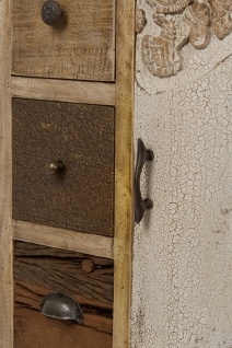 Casa Padrino Landhausstil Sideboard mit Tür und 10 Schubladen Naturfarben / Mehrfarbig 85 x 32 x H. 103 cm - Landhausstil Wohnzimmermöbel - Vorschau 5