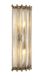 Casa Padrino Luxus Wandlampe Antik Messing 22 x 11 x H. 54 cm - Hotel Restaurant Kollektion