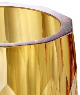 Casa Padrino Luxus Deko Glas Vase Gelb Ø 12 x H. 14 cm - Luxus Qualität - Vorschau 3