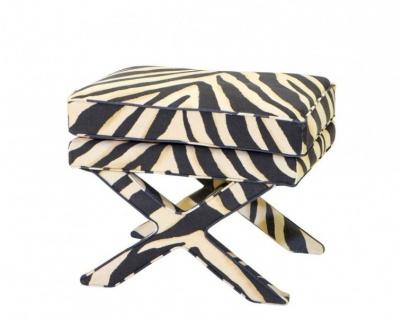 Casa Padrino Luxus Sitz Hocker Zebra 62 x 46 x H. 50 cm - Luxus Hocker