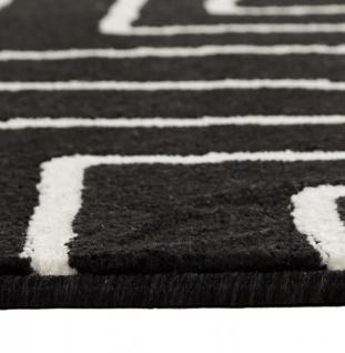Casa Padrino Designer Teppich 160 x 230 cm Schwarz/ Weiß Design - Läufer - Vorschau 5