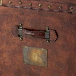 Casa Padrino Luxus Koffer Schrank Truhe Vintage Leder Braun - Art Deco Barock Jugendstil Kofferschrank Nachtschrank - Vorschau 4