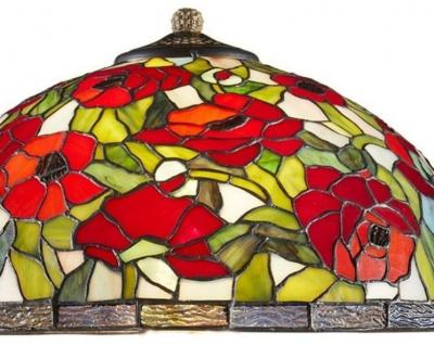 Casa Padrino Tiffany Tischleuchte Bronzefarben / Mehrfarbig Ø 40 x H. 61 cm - Tiffany Hockerleuchte aus 528 Teilen - Vorschau 3