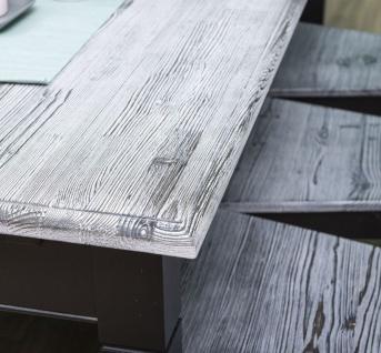 Casa Padrino Landhausstil Esszimmer Möbel Set Antik Weiß / Schwarz - 1 Esstisch & 6 Esszimmerstühle - Massivholz Esszimmer Möbel - Landhausstil Möbel - Vorschau 5