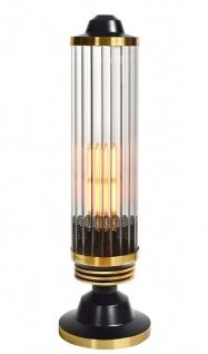 Casa Padrino Luxus Designer Tischlampe Schwarz / Messing - Hotel Kollektion