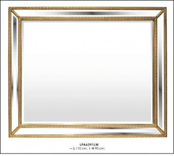 Casa Padrino Barock Wandspiegel Gold H 90 cm, B 110 cm - Edel & Prunkvoll - Goldener Spiegel