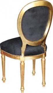 Casa Padrino Barock Esszimmer Stuhl Schwarz / Gold / Mod2/ Rund - Vorschau 2
