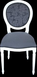 Casa Padrino Design Esszimmerset Weiß - Ausziehbar Esstisch + 6 Stühle - Vorschau 2