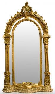 Casa Padrino Barock Standspiegel Gold 134 x H. 257 cm - Edel & Prunkvoll