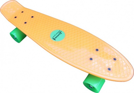 Koston Oldschool Skateboard Plastic Cruiser 70s Style Orange/Green - 22 x 6.0 inch - Plastik Vinyl Skateboard