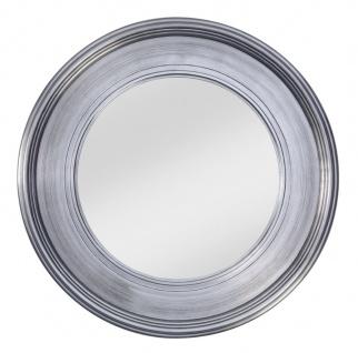 Casa Padrino Wohnzimmer Wandspiegel Silber Ø 94 cm - Luxus Wohnzimmer Accessoires