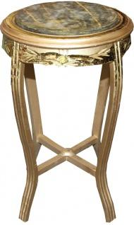 Casa Padrino Barock Beistelltisch Rund Gold /Grün Antik Look - 68 x 40cm