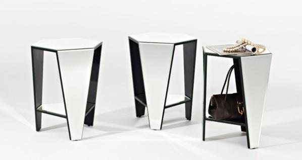 Casa Padrino Luxus Spiegelglas Beistelltisch 45 x 40 x H. 56 cm - Designermöbel - Vorschau 4