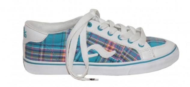 Adio Skateboard Schuhe Daily Girls White/Light Blue