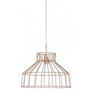 Casa Padrino Hängeleuchte Deckenleuchte Bronze Industrial Design Durchmesser 47 x H 32 cm - Industrie Lampe Leuchte Industrieleuchte