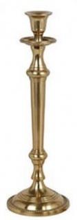 Casa Padrino Jugendstil Kerzenständer Antik Messingfarben H. 27 cm - Runder Aluminium Kerzenhalter - Barock & Jugendstil Deko Accessoires