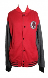 Independent Skatebaord Delta Jacke Denim Red/Grey