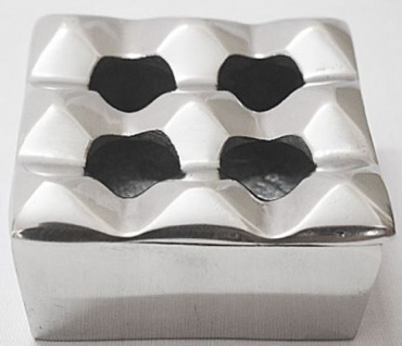 Casa Padrino Aschenbecher Silber 11 x 11 x H. 5 cm - Moderner Aluminium Aschenbecher - Wohnzimmer Deko