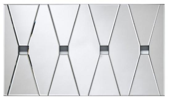 Casa Padrino Designer Wandspiegel mit 4 Gucklöchern 80 x H. 45 cm - Wohnzimmer Spiegel - Garderoben Spiegel - Luxus Spiegel