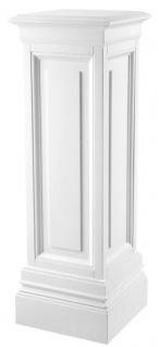 Casa Padrino Designer Mahagoni Säule Weiß 33 x 33 x H. 100 cm - Luxus Beistelltisch