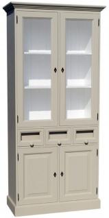 Casa Padrino Landhausstil Küchenschrank mit 4 Türen und 3 Schubladen 98 x 50 x H. 200 cm - Verschiedene Farben - Küchenmöbel - Vorschau 1