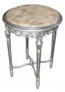 Beistelltisch antik rund  Beistelltisch Silber Rund günstig kaufen bei Yatego
