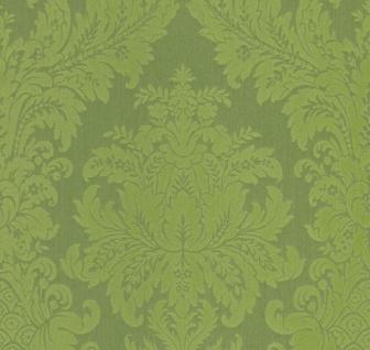 Casa Padrino Barock Textiltapete Grün 10, 05 x 0, 53 m - Luxus Wohnzimmer Tapete