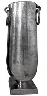 Casa Padrino Antik Stil Vase Aluminium Silber - Hotel Dekoration - Barock Blumengefäss Pflanzentopf