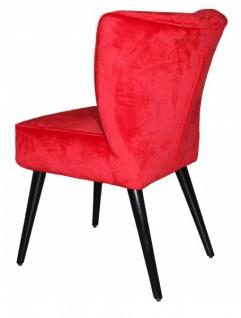 Casa Padrino Esszimmer Stuhl Rot / Schwarz ohne Armlehnen - Barock Möbel - Vorschau 2