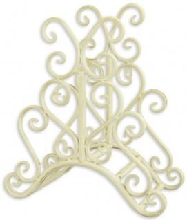 Casa Padrino Jugendstil Gartenschlauch Wandhalter Weiß 31, 6 x H. 34, 5 cm - Nostalgische Metall Schlauch Wandhalterung - Barock & Jugendstil Garten Accessoires
