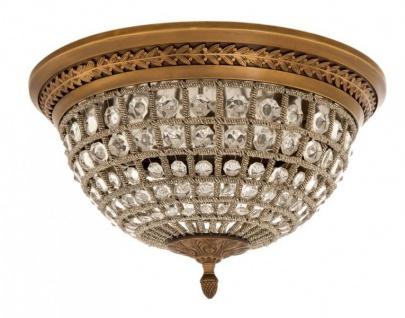 Casa Padrino Luxus Deckenleuchte Messing Durchmesser 45 x H 37 cm Antik Stil - Möbel Lüster Deckenlampe - Vorschau 2