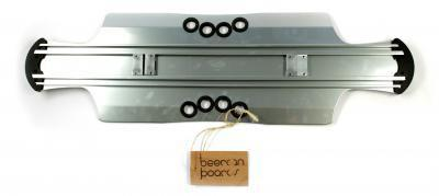Beercan Boards Longboard Cruiser Deck Lite Soda Chrome 10.5 x 35.0 inch - Aluminium Skateboard Long Board Deck