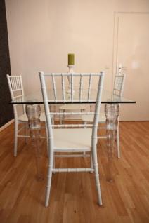 Designer Acryl Esszimmer Set - Ghost Chair Table - Polycarbonat Möbel - 1 Tisch + 4 Stühle - Casa Padrino Designer Möbel Weiß - Casa Padrino Designer Möbel - Vorschau 4