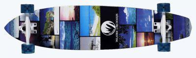 Paradise Longboard Skateboard Koi Bamboo Kick Pintail complete PREBUILT