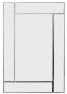 Casa Padrino Luxus Edelstahl Spiegel / Wandspiegel Silber 60 x H. 90 cm - Luxus Kollektion