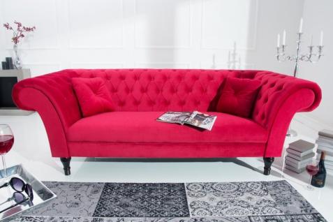 Casa Padrino Chesterfield Sofa in Rot 225 x 90 x H. 79 cm - Designer Chesterfield Sofa - Vorschau 3