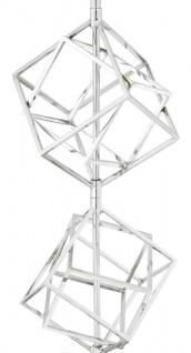 Casa Padrino Luxus Tischleuchte Silber / Grau 40 x H. 98 cm - Designer Tischlampe - Vorschau 3