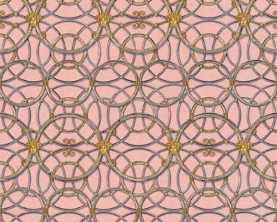 Versace Designer Barock Vliestapete IV 37049-6 - Rosa / Silber / Gold - Design Tapete - Hochwertige Qualität