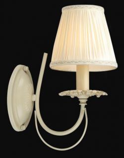 Casa Padrino Barock Wandleuchte Elfenbein 15 x H 31 cm Antik Stil - Wandlampe Wand Beleuchtung