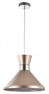 Casa Padrino Hängeleuchte Champagnerfarben / Silber Ø 33, 5 cm - Höhenverstellbare Leuchte