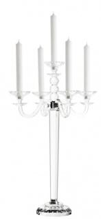 Casa Padrino Luxus Kristallglas Kerzenhalter Durchmesser 46 x H. 77 cm - Edel & Prunkvoll - Vorschau 1