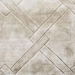 Casa Padrino Luxus Viskose Teppich Grau - Verschiedene Größen - Handgewebter Wohnzimmer Teppich - Wohnzimmer Deko - Vorschau 2