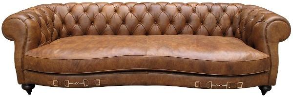 Casa Padrino Echtleder 2, 5-Sitzer Sofa Columbia Braun 218 x 105 x H. 73 cm - Luxus Qualität