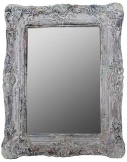 Casa Padrino Barockstil Spiegel / Wandspiegel Antik Grau 42 x H. 54 cm - Barock Möbel