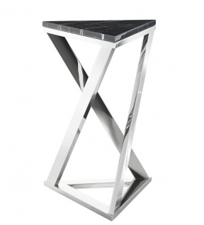 Casa Padrino Luxus Designer Beistelltisch Edelstahl Marmor - Limited Edition