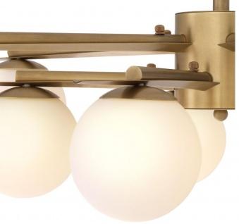 Casa Padrino Luxus Kronleuchter Antik Messingfarben / Weiß Ø 90 x H. 20 cm - Luxus Möbel - Vorschau 5