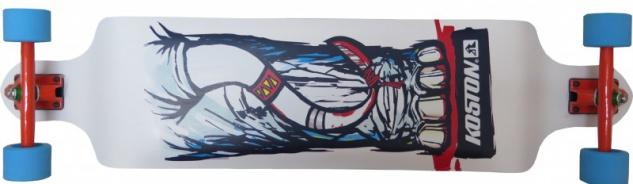 Koston Longboard Drop Down Komplettboard Cruiser Battle Elephant 40.5 x 9.5 inch - Profi Longboard Dropdown Carver