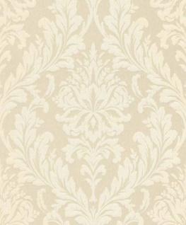 Casa Padrino Barock Textiltapete Creme / Weiß 10, 05 x 0, 53 m - Wohnzimmer Tapete - Deko Accessoires im Barockstil