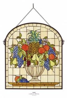 Casa Padrino Tiffany Glas Mosaik Wand Dekoration 62 x H 72 cm - Restaurant Cafe Hotel Einrichtung
