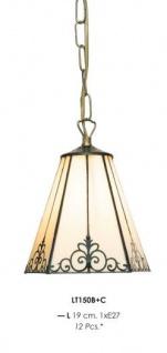 Handgefertigte Tiffany Pendelleuchte Hängeleuchte Länge 19 cm, 1-Flammig - Leuchte Lampe